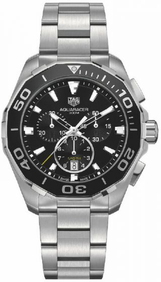 TAG Heuer Aquaracer 43MM on stainless steel bracelet, CAY111A.BA0927